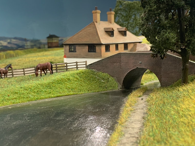 Model Canal bridge & towpath