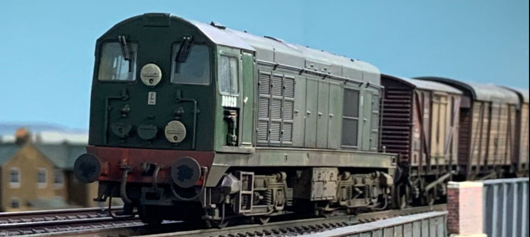 Class 20 with freight train