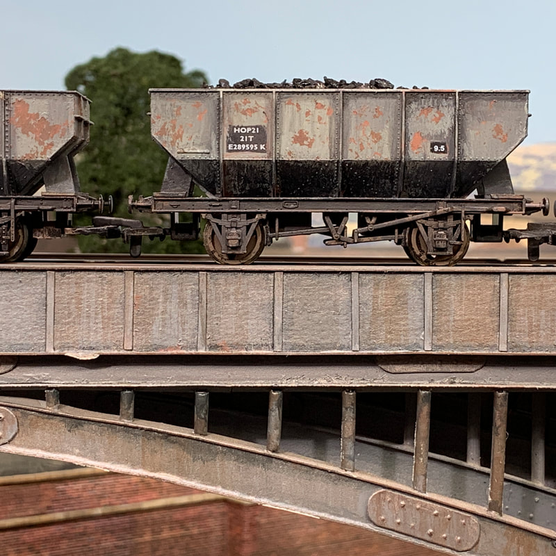 Weathered coal hopper wagon